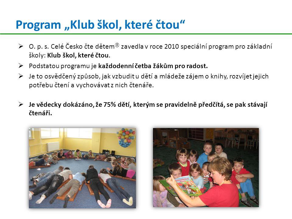"""Program """"Klub škol, které čtou  O.p. s."""