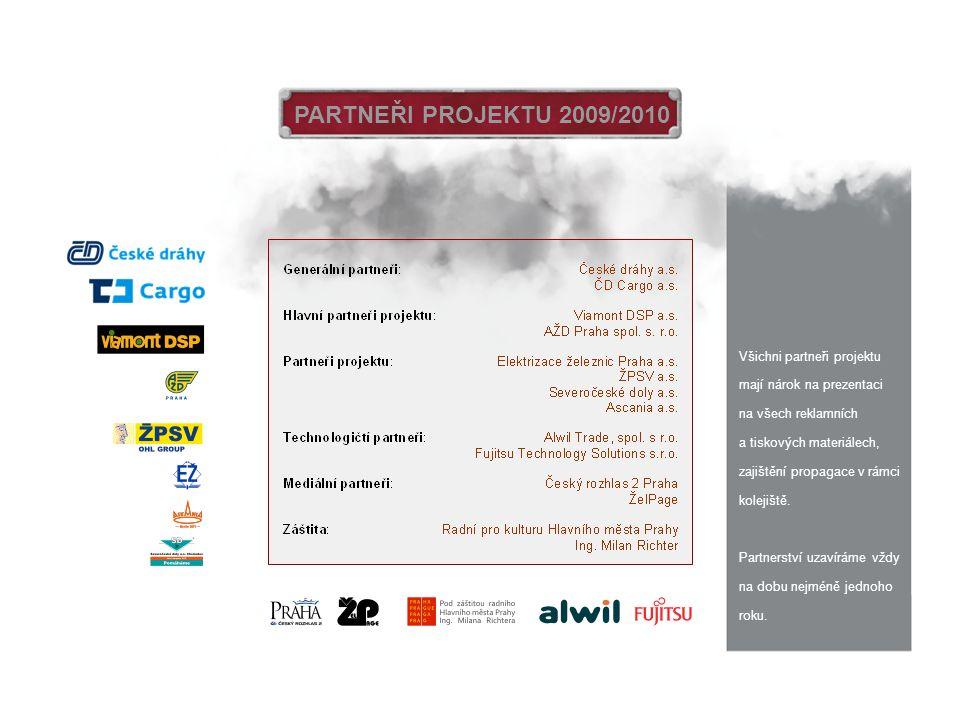 PARTNEŘI PROJEKTU 2009/2010 Všichni partneři projektu mají nárok na prezentaci na všech reklamních a tiskových materiálech, zajištění propagace v rámc