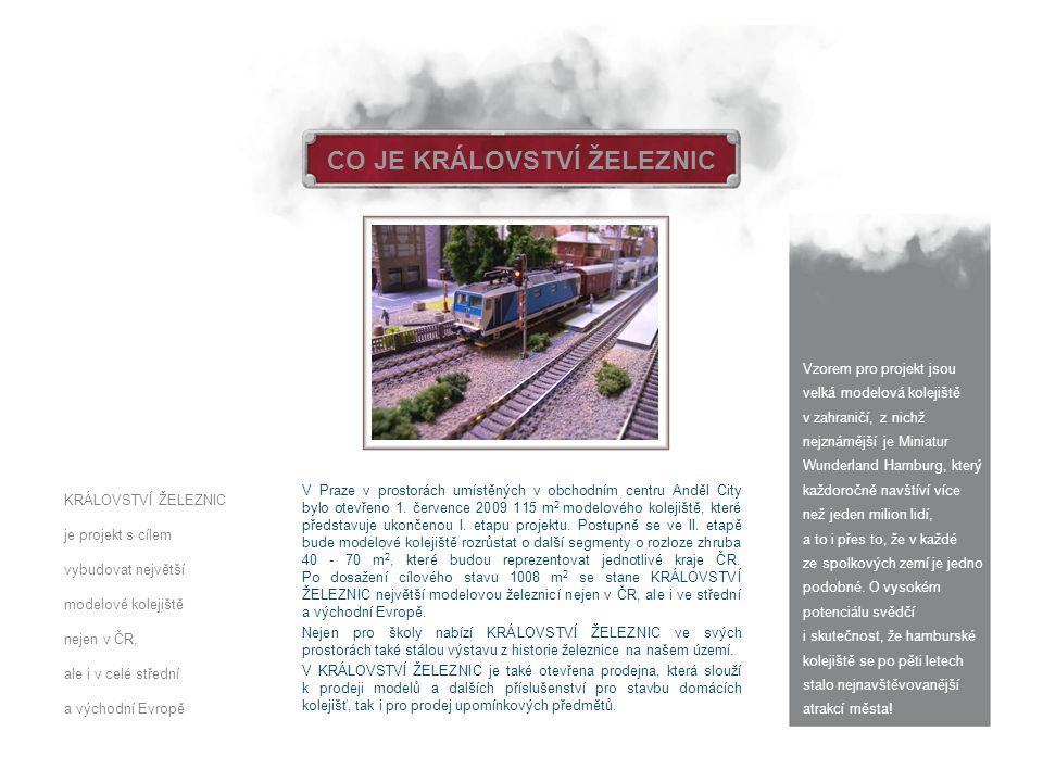 CO JE KRÁLOVSTVÍ ŽELEZNIC V Praze v prostorách umístěných v obchodním centru Anděl City bylo otevřeno 1. července 2009 115 m 2 modelového kolejiště, k
