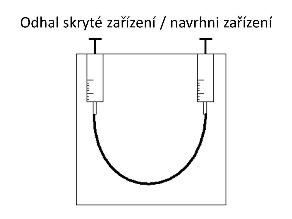 Odhal skryté zařízení / navrhni zařízení