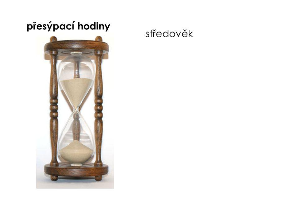 přesýpací hodiny středověk