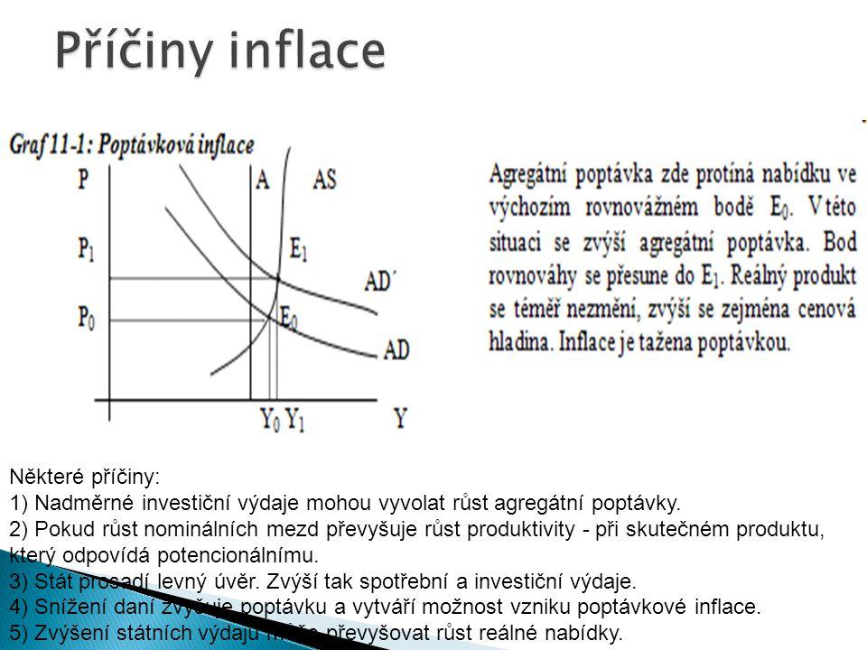 Některé příčiny: 1) Nadměrné investiční výdaje mohou vyvolat růst agregátní poptávky.