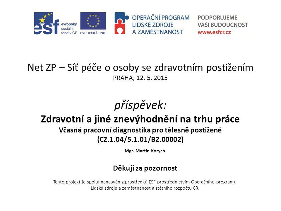 Net ZP – Síť péče o osoby se zdravotním postižením PRAHA, 12.