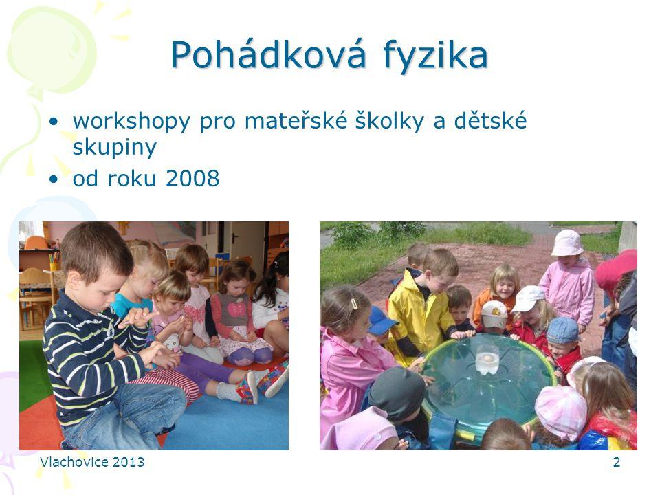 Vlachovice 20132 Pohádková fyzika workshopy pro mateřské školky a dětské skupiny od roku 2008