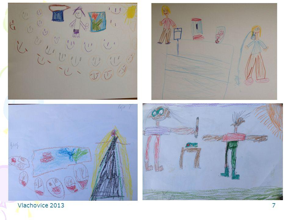 8 Důvody pro kreslení obrázků pro děti: upevnění nových poznatků, námět pro povídání si s rodiči pro lektory: zpětná vazva, informace o tom, co děti zaujalo nejvíce a jak tomu porozuměly, zdroj pro další výzkum a vylepšování programu