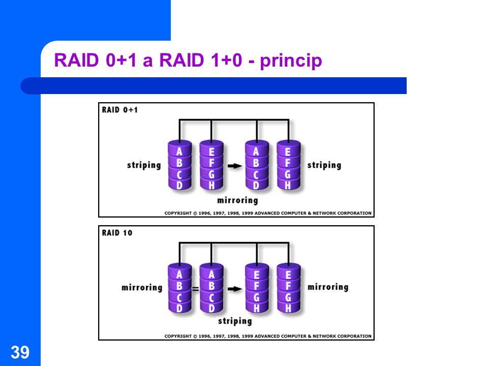 39 RAID 0+1 a RAID 1+0 - princip