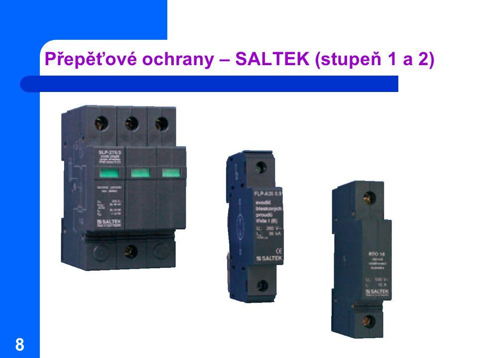 8 Přepěťové ochrany – SALTEK (stupeň 1 a 2)