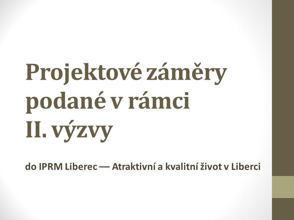 Projektové záměry podané v rámci II. výzvy do IPRM Liberec –– Atraktivní a kvalitní život v Liberci