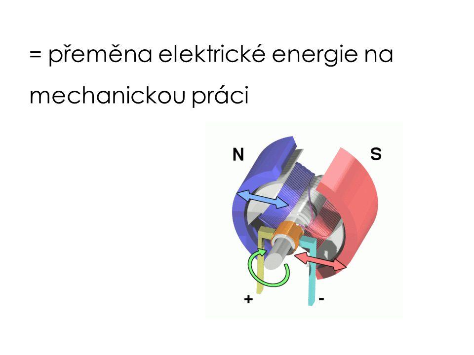 = přeměna elektrické energie na mechanickou práci