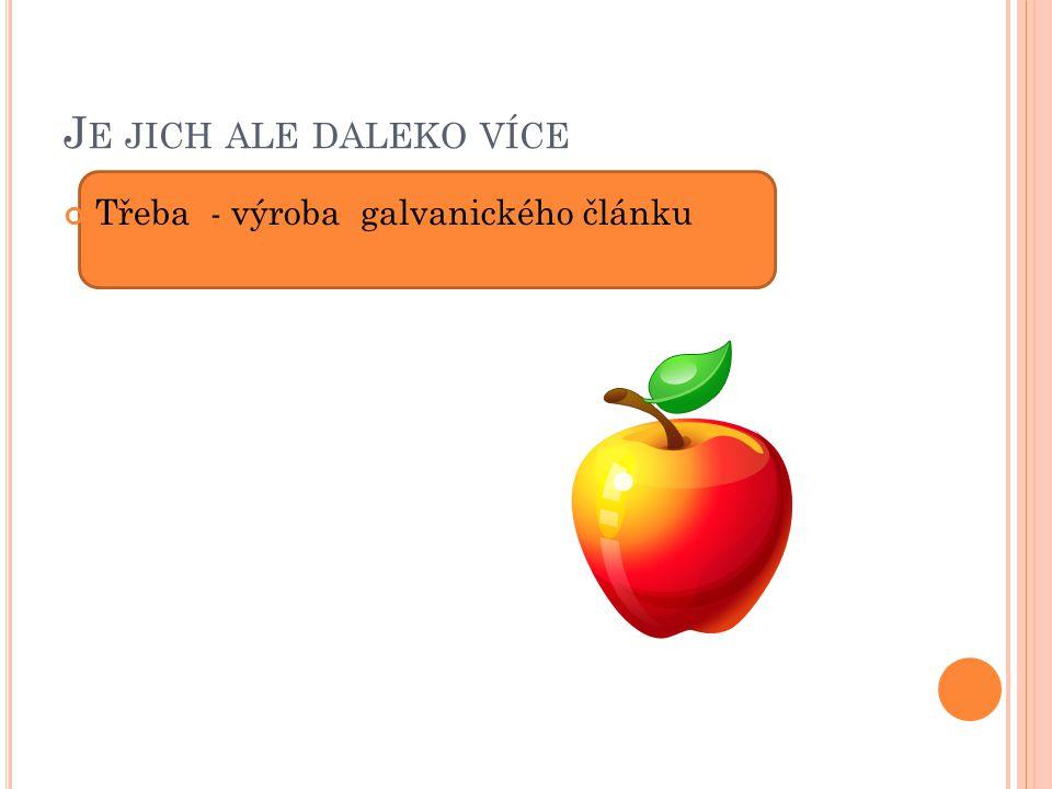 J E JICH ALE DALEKO VÍCE Třeba - výroba galvanického článku