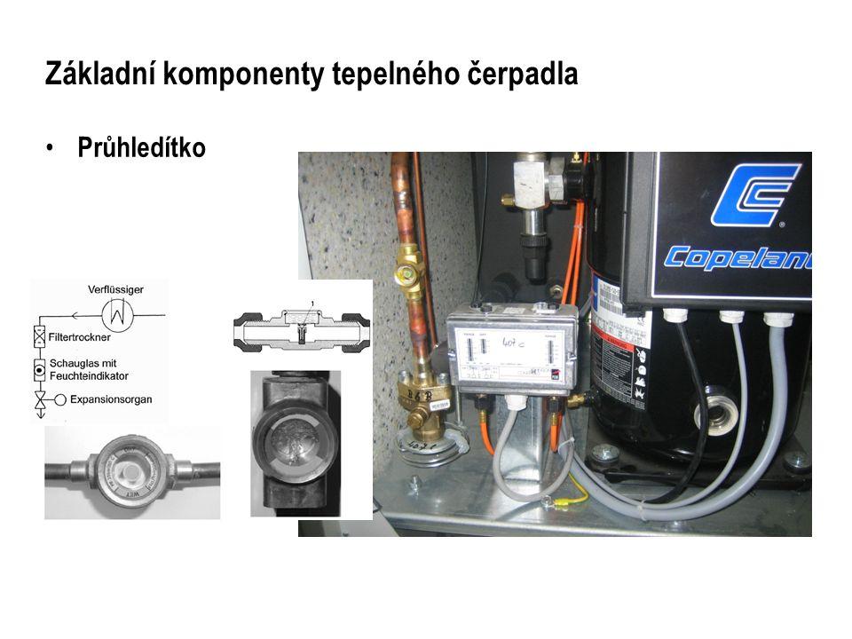 Základní komponenty tepelného čerpadla Filtr – chladícího okruhu Pro zachycení vlhkosti