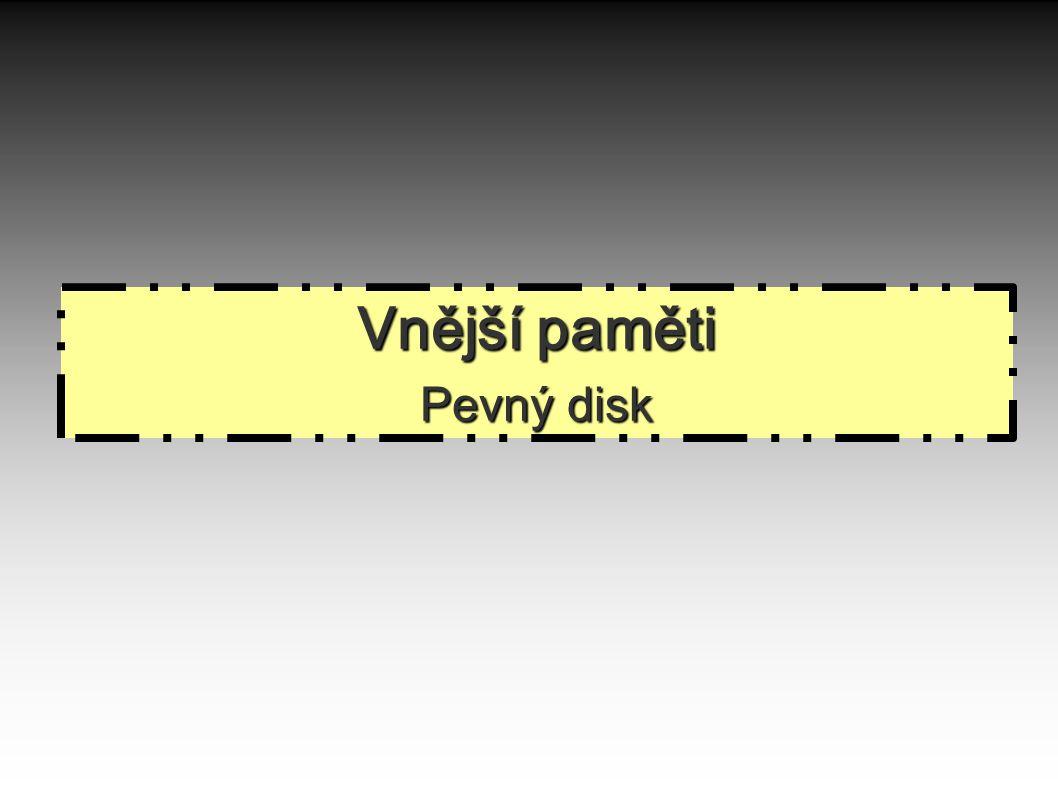 Vnější paměti Pevný disk