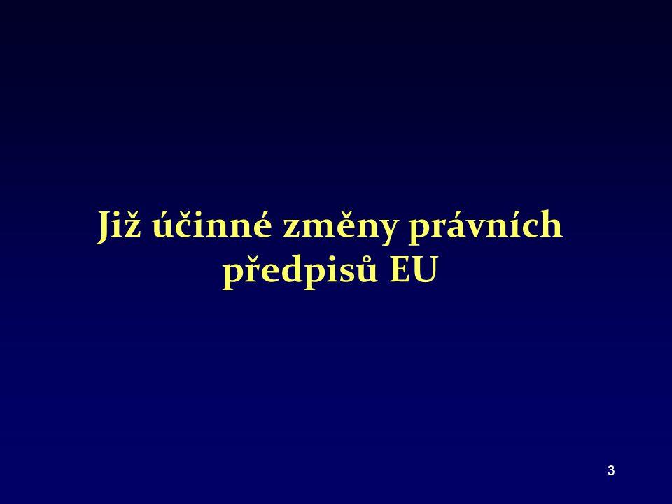 Již účinné změny právních předpisů EU 3