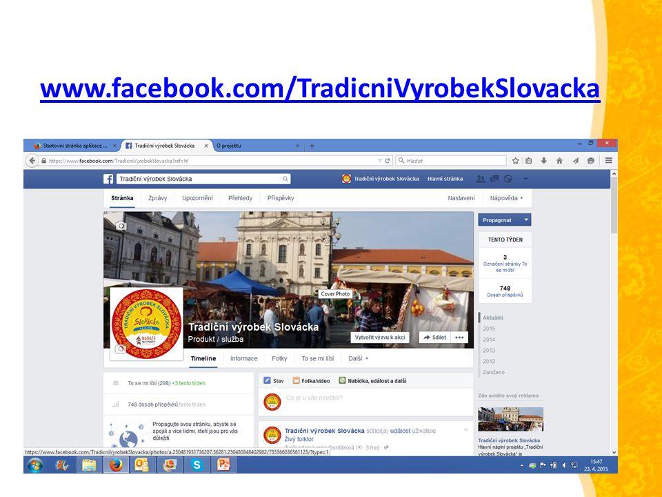www.facebook.com/TradicniVyrobekSlovacka