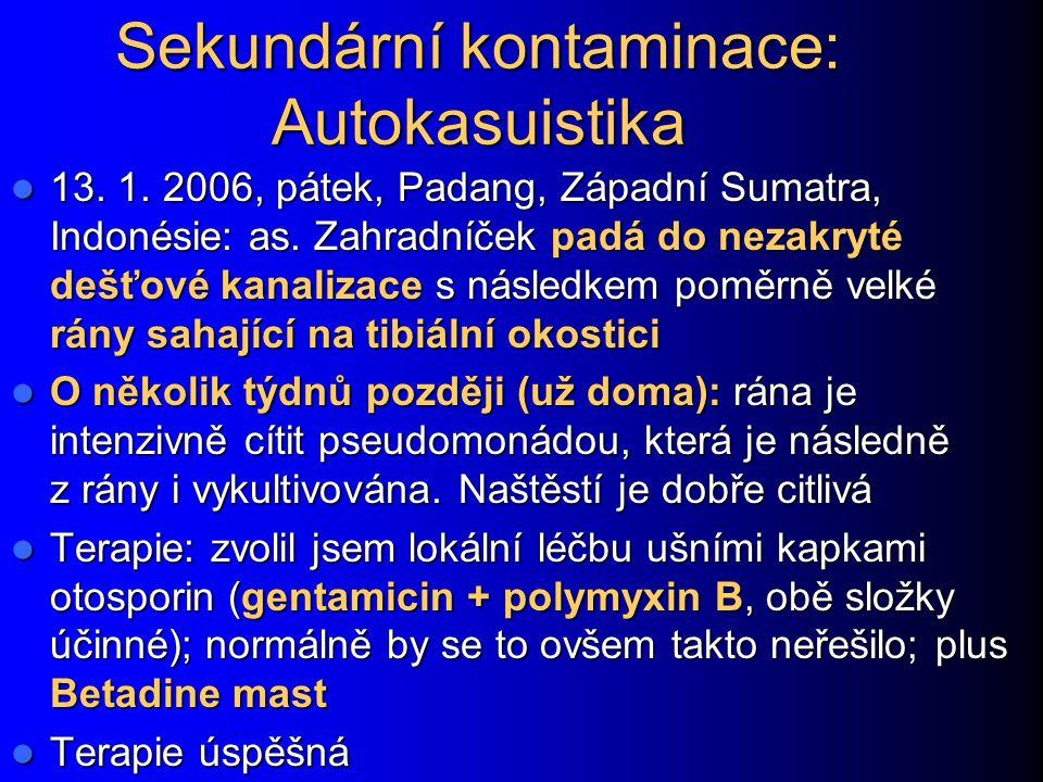 Sekundární kontaminace: Autokasuistika 13.1. 2006, pátek, Padang, Západní Sumatra, Indonésie: as.