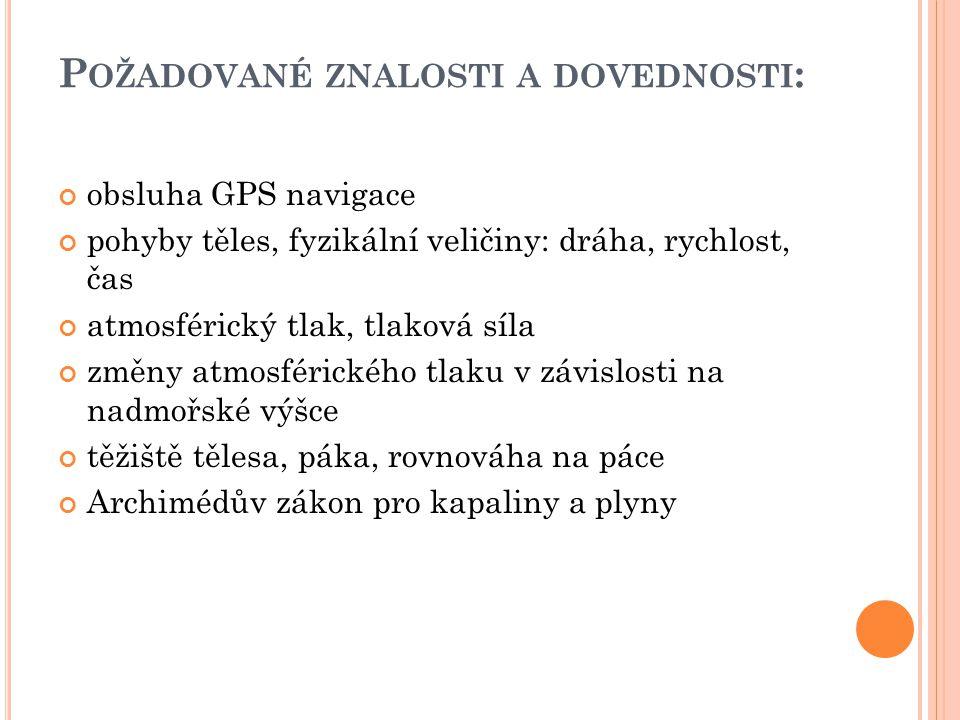 S TRUČNÝ POPIS VÝUKOVÉHO MODULU : Žáci se seznámí s principem fungování družicového systému GPS ( Global Positioning Systém ).
