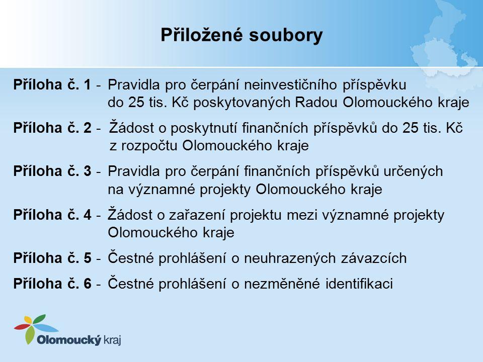 Příloha č.1 -Pravidla pro čerpání neinvestičního příspěvku do 25 tis.