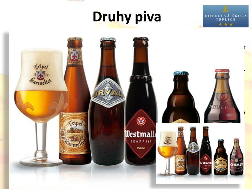 Druhy piva  Trappist (velmi silná, svrchně kvašená piva, připravovaná trapistickými mnichy na území Belgie a Nizozemska).
