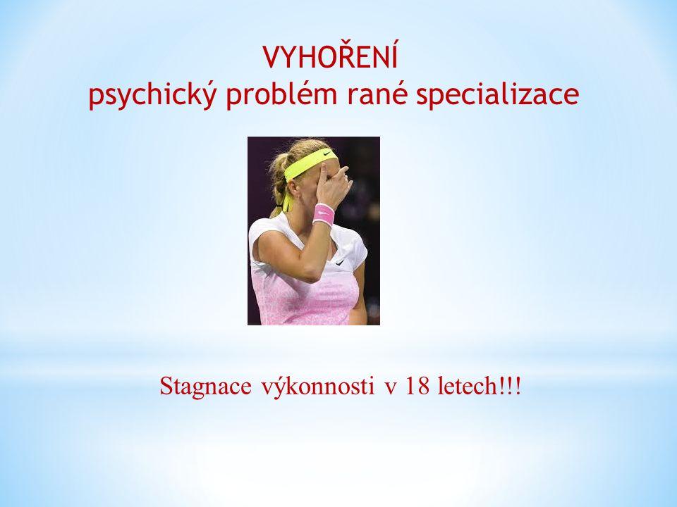 VYHOŘENÍ psychický problém rané specializace Stagnace výkonnosti v 18 letech!!!