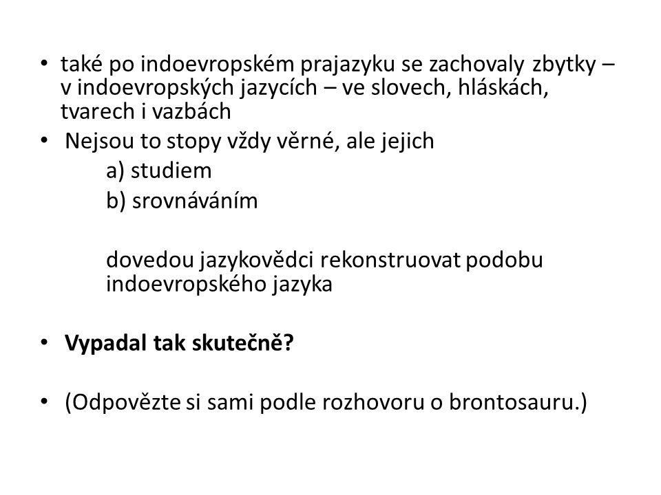 PRASLOVANŠTINA přímý genetický vývojový předchůdce staré češtiny písemnými památkami nedoložený prajazyk předpokládaný prajazyk etnika, jež se historicky, kulturně i jazykově vydělilo z indoevropského substrátu někdy mezi 6.