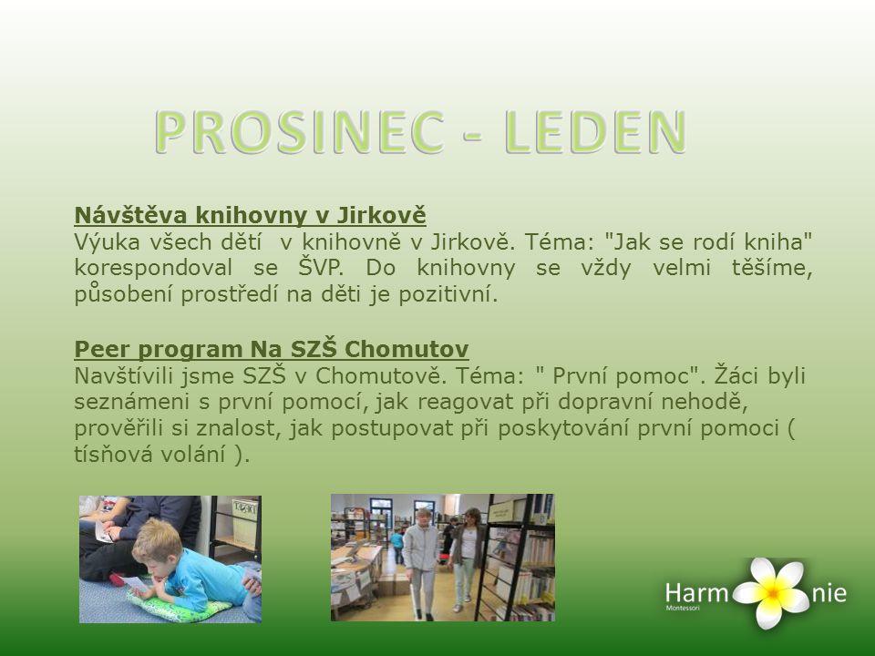 Návštěva knihovny v Jirkově Výuka všech dětí v knihovně v Jirkově. Téma: