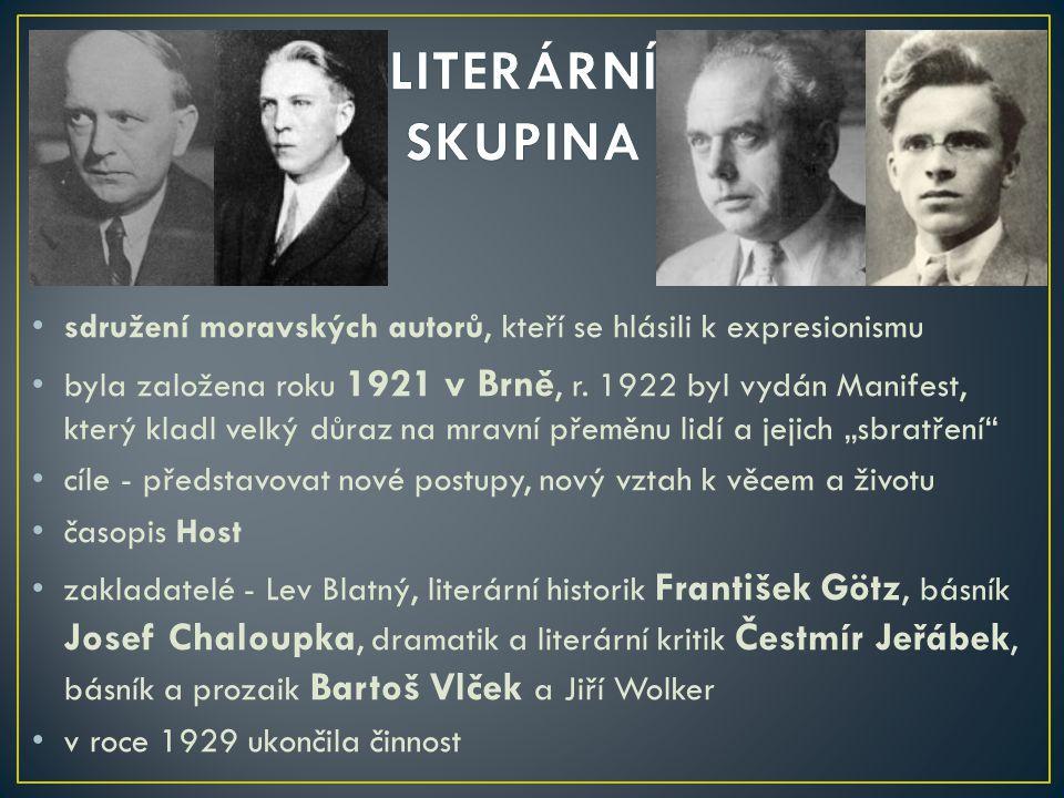 -spisovatel, esejista a překladatel katolické orientace -narodil se v Myslechovicích u Litovle v rodině chalupníka -studia jazyků na filozofické fakultě UK nedokončil -v letech 1926 – 1927 pracoval ve Staré Říši u vydavatele Josefa Floriana (byli přátelé), pak v Praze jako lektor v nakladatelství Melantrich -publikoval v různých časopisech (Tvar, Akord) -během války žil ve svém rodišti -r.