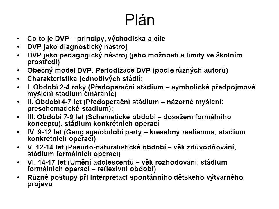 Plán Co to je DVP – principy, východiska a cíle DVP jako diagnostický nástroj DVP jako pedagogický nástroj (jeho možnosti a limity ve školním prostřed