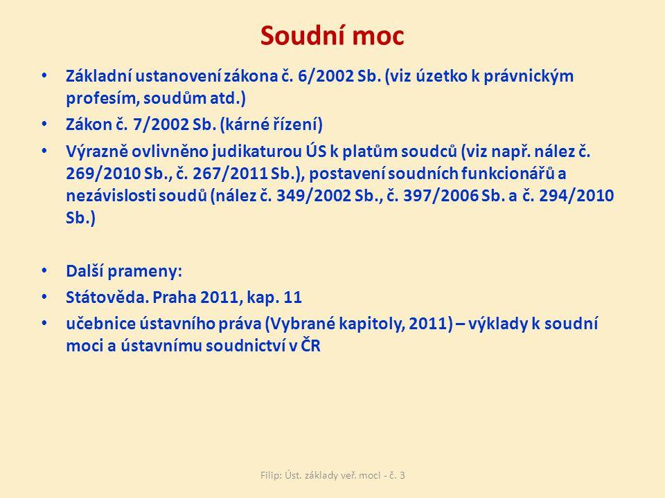 Soudní moc Základní ustanovení zákona č.6/2002 Sb.