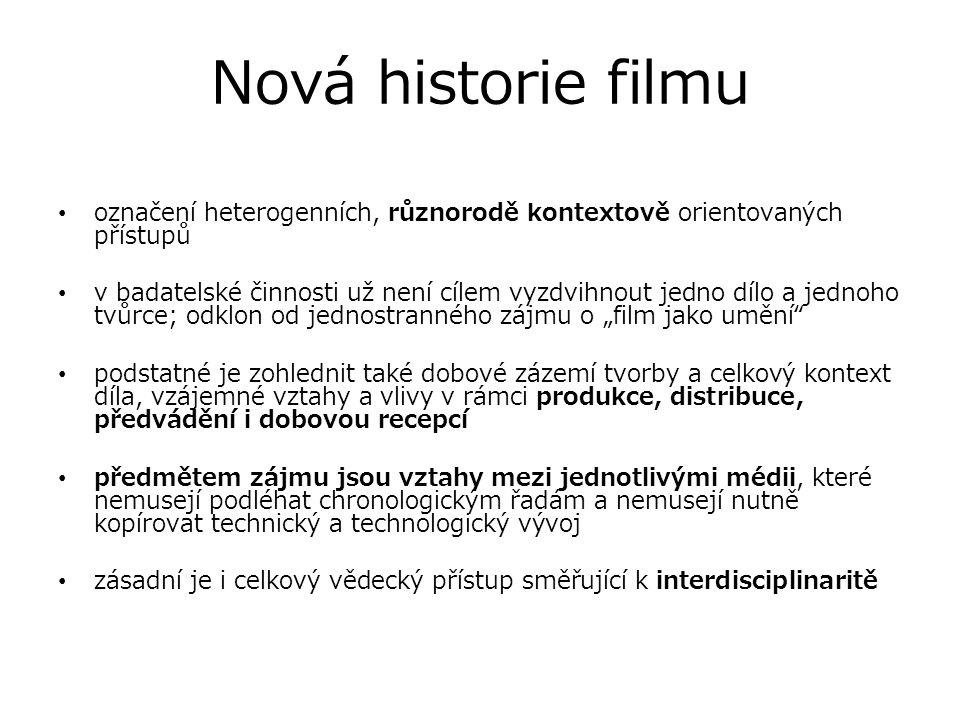 Nová historie filmu Vývoj Nové filmové historie: Soustředění se na popis ideové základny nové metody, nové historiografie.