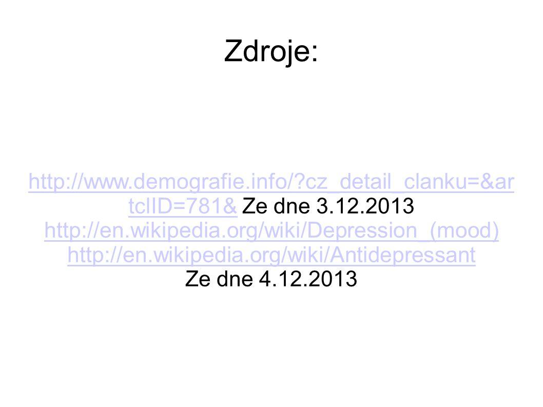 Zdroje: http://www.demografie.info/?cz_detail_clanku=&ar tclID=781&http://www.demografie.info/?cz_detail_clanku=&ar tclID=781& Ze dne 3.12.2013 http:/