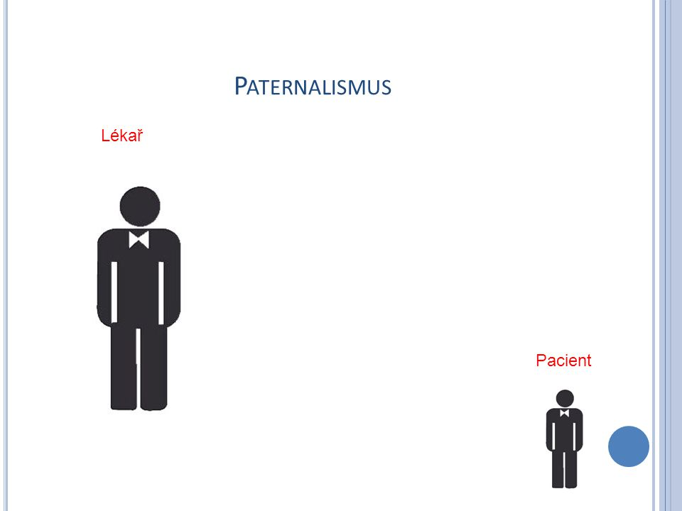 P ATERNALISMUS Pacient Lékař