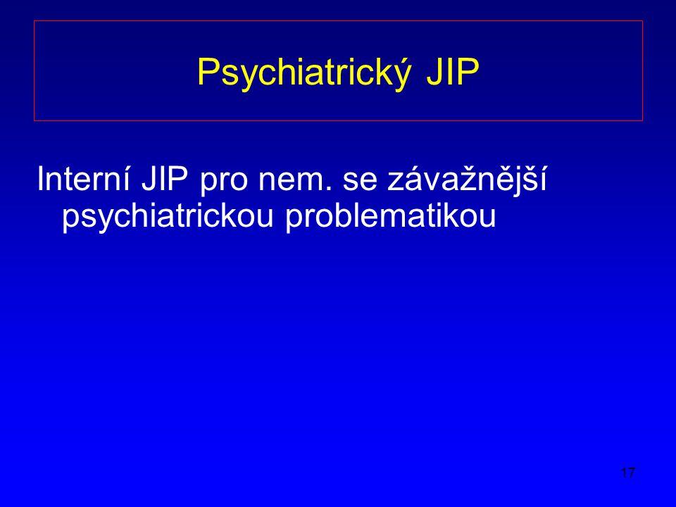 17 Psychiatrický JIP Interní JIP pro nem. se závažnější psychiatrickou problematikou