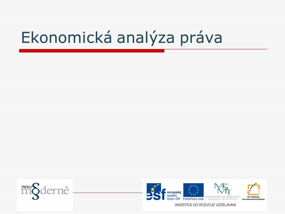 Ekonomická analýza práva