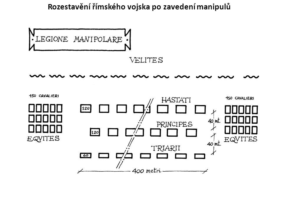 V každé legii původně 60 (v každém manipulu 2, v cohortě 6), v době císařské 59 (v 1.