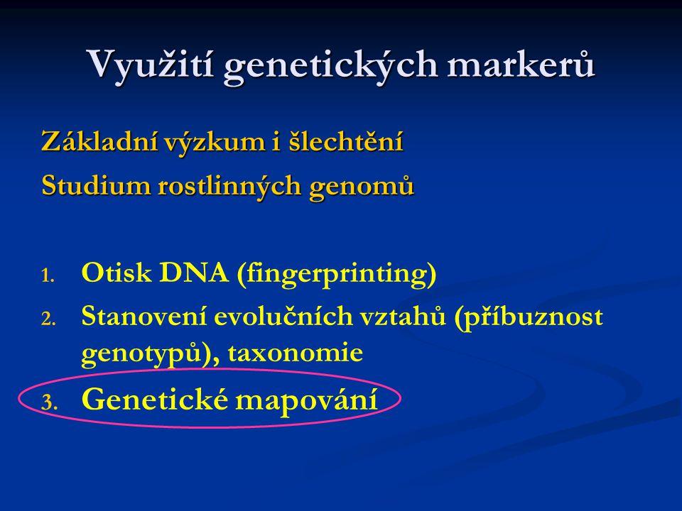 Vhodný pro hodnocení genových zdrojů vyhledávání markerů kvantitativní znaky
