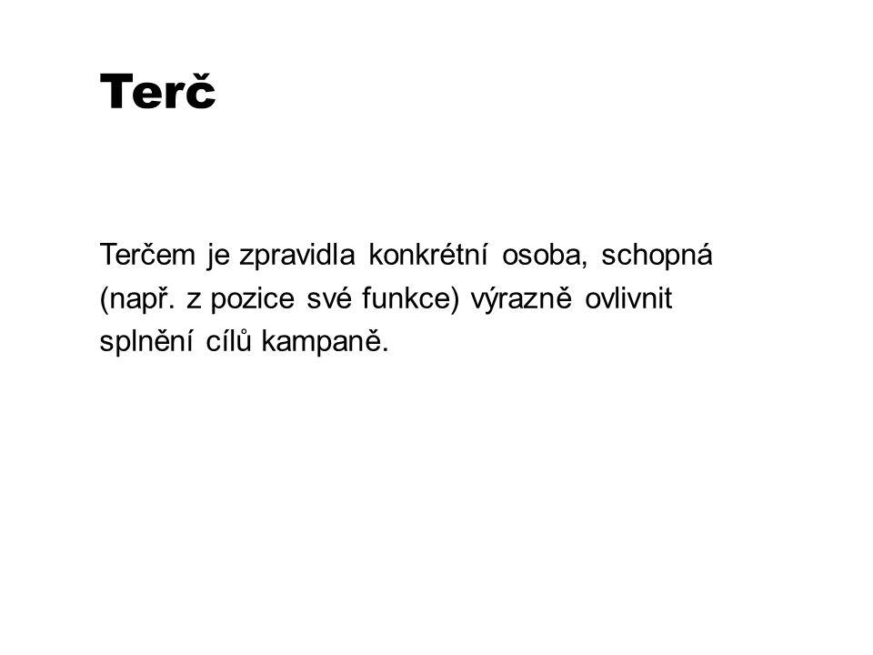 Terč Terčem je zpravidla konkrétní osoba, schopná (např.