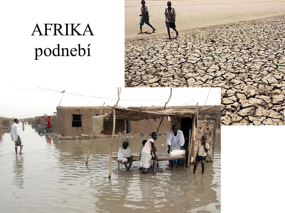 AFRIKA podnebí