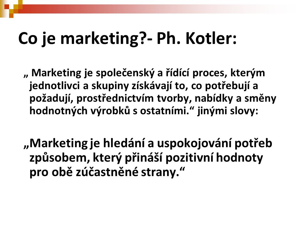 Marketingový postup