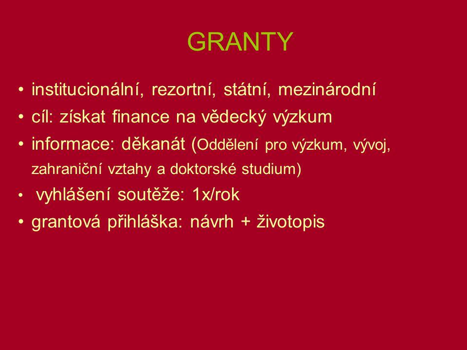 Grantový návrh 1.Název (česky, anglicky) -stručný, výstižný a srozumitelný 2.