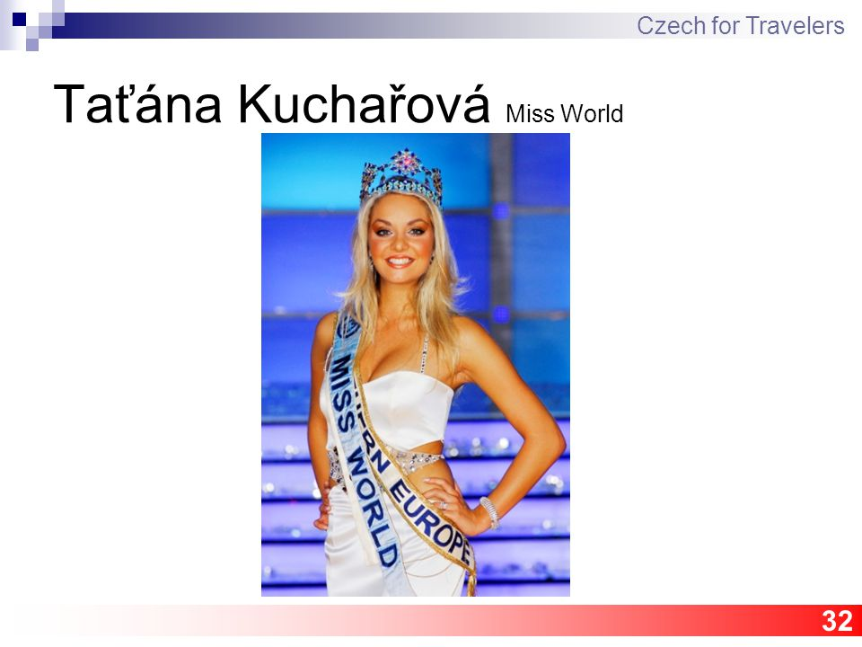 32 Taťána Kuchařová Miss World Czech for Travelers