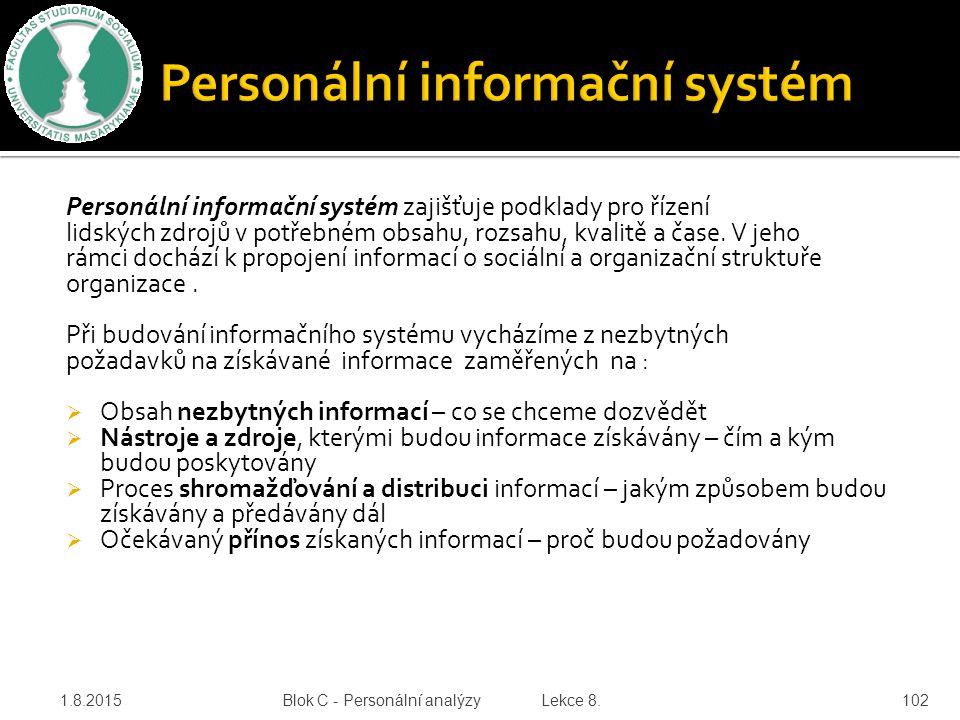 Personální informační systém zajišťuje podklady pro řízení lidských zdrojů v potřebném obsahu, rozsahu, kvalitě a čase. V jeho rámci dochází k propoje