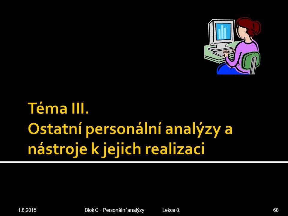 1.8.201568 Blok C - Personální analýzy Lekce 8.