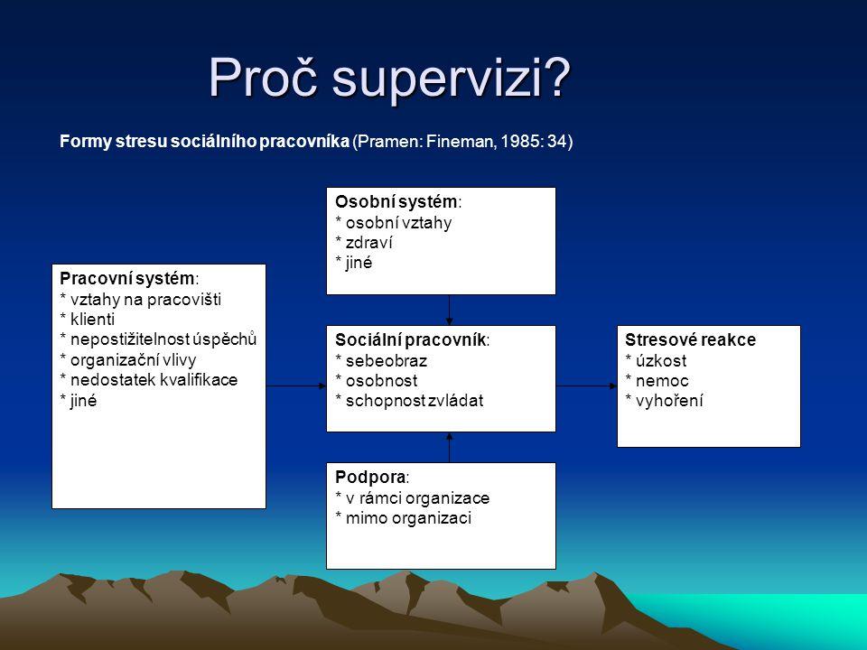 Zvláštní formy skupinové supervize Týmová supervize Od skupinové se odlišuje tím, že supervidován je tým pracovníků, který má společnou pracovní vazbu (nejenom supervizi).