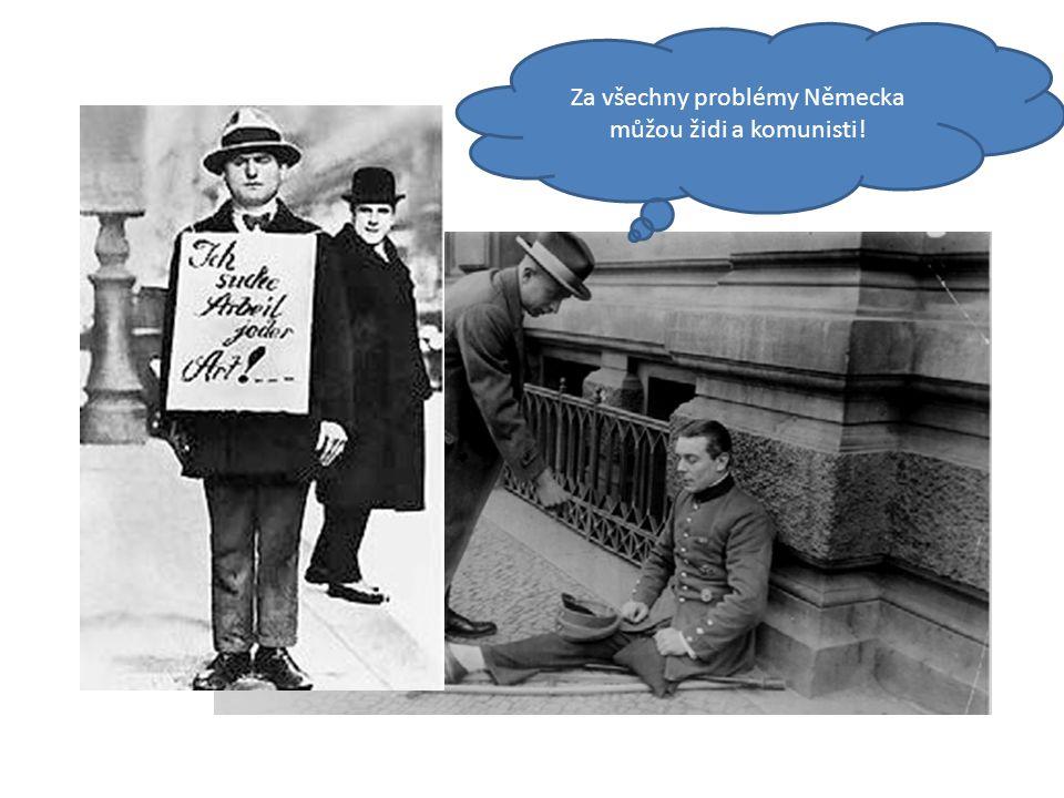 Za všechny problémy Německa můžou židi a komunisti!
