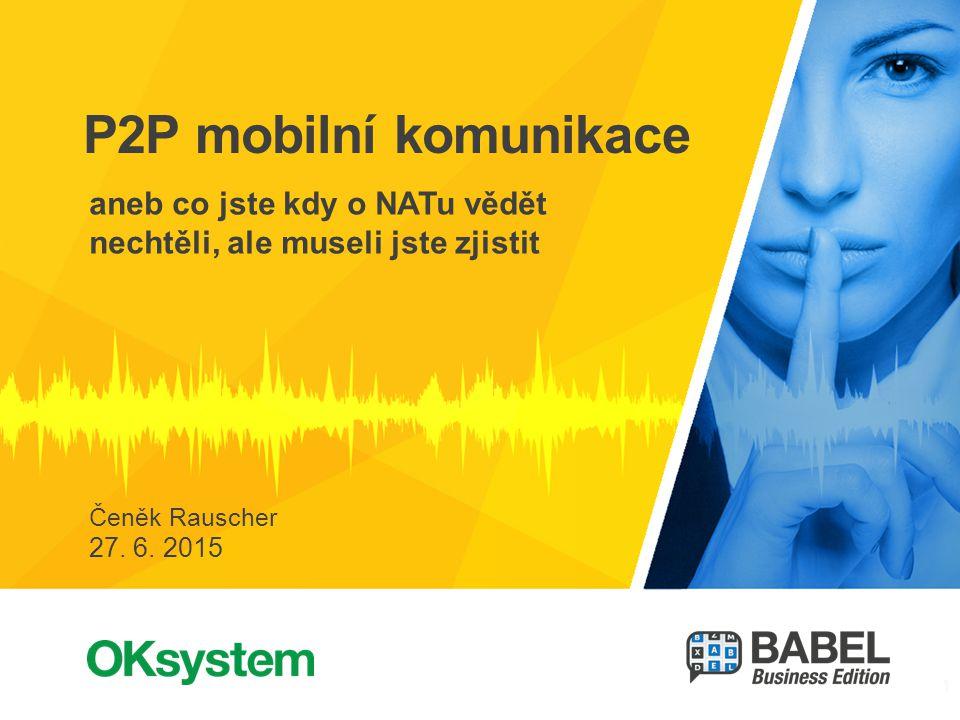 2 2 Čeněk Rauscher, OKsystem BABEL Business Edition Šifrovaná firemní komunikace Zprávy, přílohy, … VoIP Úvod