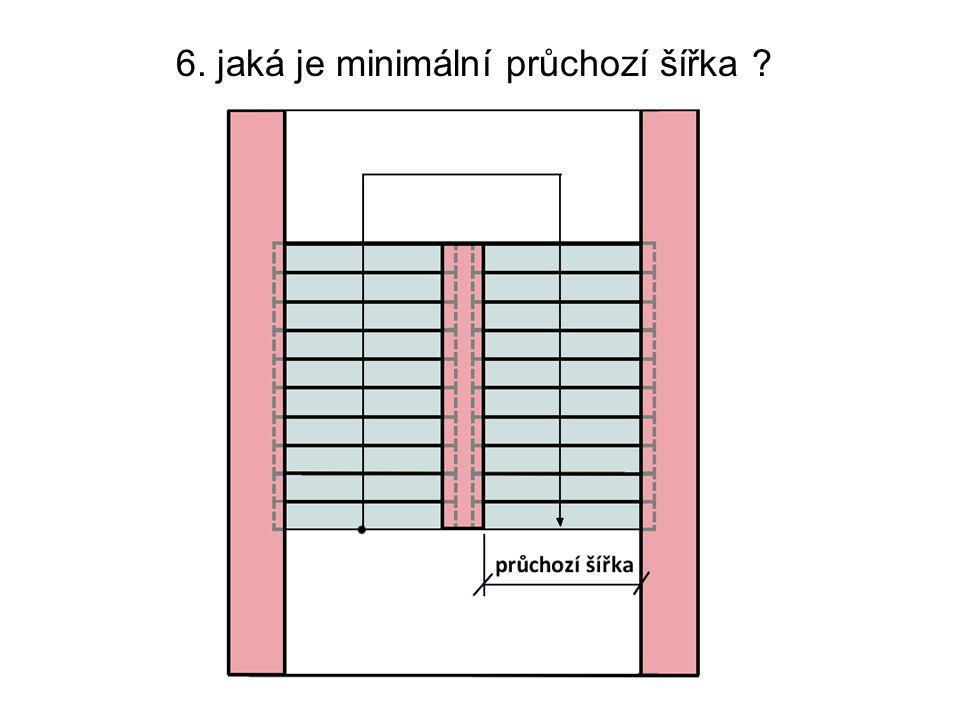 6. jaká je minimální průchozí šířka