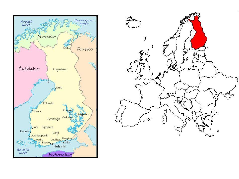 Hlavní město: Helsinky Rozloha: 338 145 km² (63.