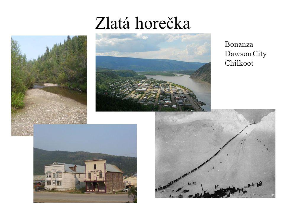 Zlatá horečka Bonanza Dawson City Chilkoot