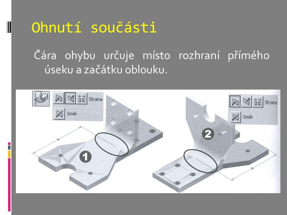 Modelování součástí z plechu Inventor poskytuje specifické nástroje k modelování součástí z plechu.