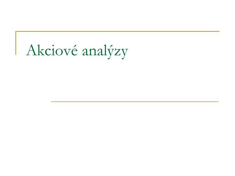 Akciové analýzy